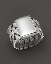 Roberto Coin | Metallic Sterling Silver Woven Ring | Lyst
