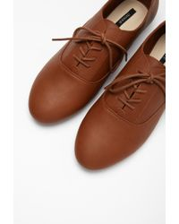 Forever 21 - Natural Faux Leather Oxfords - Lyst