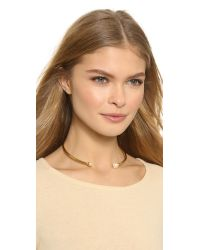 Rachel Zoe - Metallic Sophia Imitation Pearl Collar Necklace - Gold/Pearl - Lyst