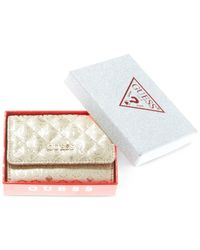 Guess | Metallic Boxed Ophelia Mighty Mini Wallet | Lyst