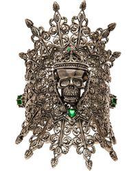 M.c.l  Matthew Campbell Laurenza - Metallic Skull Web Cuff - Lyst