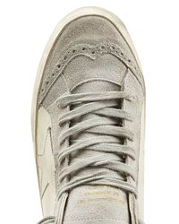 Golden Goose Deluxe Brand - Gray Leather High Top Sneakers - White for Men - Lyst