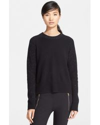 Rag & Bone | Black 'catherine' Cashmere Crewneck Sweater | Lyst