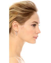 Michael Kors - Metallic Small Pave Hoop Earrings - Silver/clear - Lyst