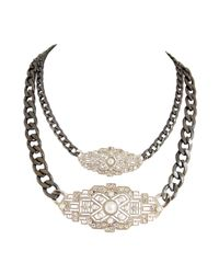 Ziba | Metallic Livana Statement Necklace | Lyst