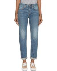 Rag & Bone - Blue Selvedge Marilyn Jeans - Lyst