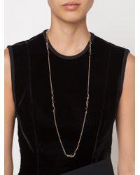 Eddie Borgo | Metallic Onyx Curved Lariat Necklace | Lyst