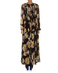 Lanvin | Black Floral-print And Leopard-devoré Gown | Lyst