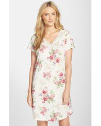 Lauren by Ralph Lauren - Multicolor Floral Print Jersey Sleep Shirt - Lyst