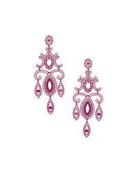 TOPSHOP - Purple Cut Out Chandelier Drop Earrings - Lyst