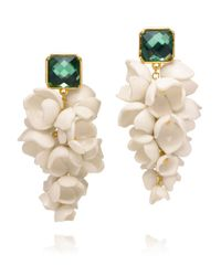 Tory Burch | Green Anais Grape Flower Earring | Lyst