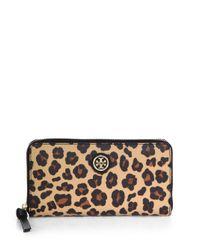 Tory Burch - Multicolor Kerrington Leopardprint Zip Continental Wallet - Lyst