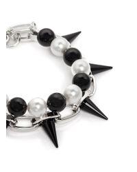 Joomi Lim - Black Spike Pearl Double Strand Bracelet - Lyst