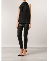 Barbara Bui - Black Halter Neck Blouse - Lyst