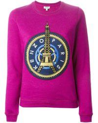 KENZO - Purple 'Eiffel Tower' Sweatshirt - Lyst