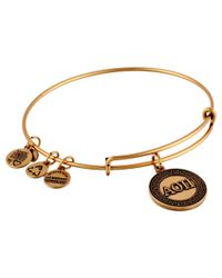 ALEX AND ANI | Metallic Alpha Omnicron Pi Charm Bangle | Lyst