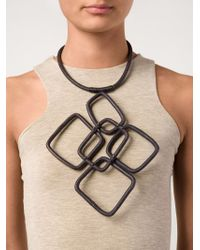 Urban Zen - Black Oversized Link Necklace - Lyst