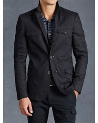 John Varvatos | Blue Cotton Utility Jacket for Men | Lyst