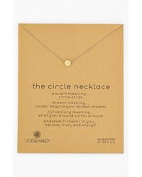 Dogeared - Metallic 'reminder - The Circle' Pendant Necklace - Lyst