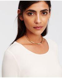 Ann Taylor | Metallic Pave Collar | Lyst