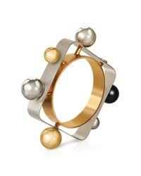Roger Vivier | Metallic Tektronic Bracelet | Lyst