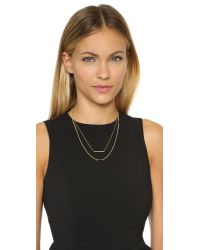 Jennifer Zeuner - Metallic Hazel Necklace - Gold - Lyst