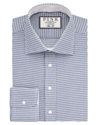 Thomas Pink | Blue Zetland Dot Slim Fit Buttom Cuff Shirt for Men | Lyst