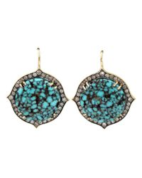 Sylva & Cie | Blue 'kingman' Diamond Drop Earrings | Lyst