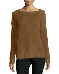Eileen Fisher | Metallic Airy Mohair Box Top | Lyst