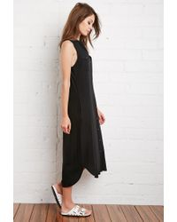 Forever 21 | Black Buttoned Midi Dress | Lyst