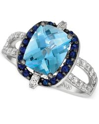 Le Vian | Metallic Blue Topaz (2-3/4 Ct. T.w.), Blueberry Sapphire (1/3 Ct. T.w.) And Vanilla Diamond (1/3 Ct. T.w.) Ring In 14k White Gold | Lyst