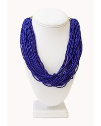 Forever 21 - Blue Free Spirit Beaded Necklace - Lyst