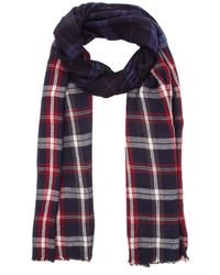 Michael Stars | Gray Dippied In Plaid Wrap | Lyst