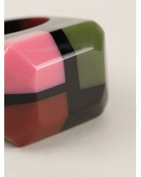 Marni - Multicolor Chunky Colour Block Ring - Lyst
