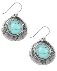 Lucky Brand - Metallic Earrings, Silver-tone Turquoise Drop Earrings - Lyst