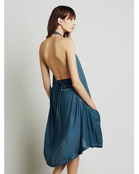 Free People | Blue Womens Drawstring Swing Tunic | Lyst