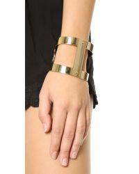 Michael Kors - Metallic Martime Statement Cuff Bracelet - Gold - Lyst