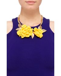 Oscar de la Renta - Yellow Oversized Resin Flower Necklace - Lyst