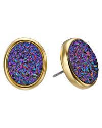 kate spade new york - Purple All That Glitters Druzy Stud Earrings - Lyst