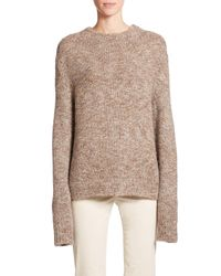 The Row - Brown Rane Tweed Knit Sweater - Lyst
