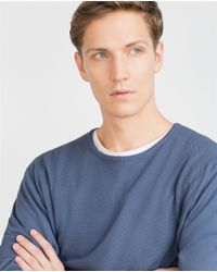 Zara | Blue Sweater for Men | Lyst