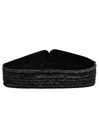 Linea Pelle | Black Wide Braided Waist Belt | Lyst