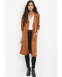 Forever 21 | Natural Belted Trench Coat | Lyst