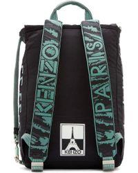 KENZO - Black Logo Backpack for Men - Lyst