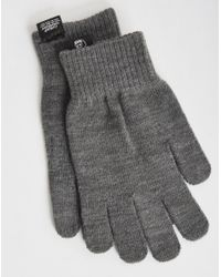 Cheap Monday - Gray Cm Magic Gloves Grey Melange for Men - Lyst