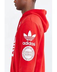 Adidas - Red Originals Box Trefoil Hoodie Sweatshirt for Men - Lyst