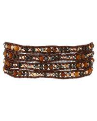 Chan Luu - Multicolor 32' Pietersite Mix With Crystals Wrap Bracelet - Lyst