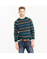 J.Crew | Multicolor Lambswool Fair Isle Sweater In Forest for Men | Lyst