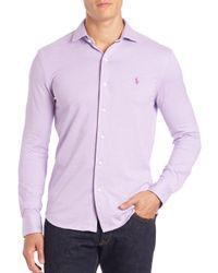 Polo Ralph Lauren   Purple Cotton Sportshirt for Men   Lyst