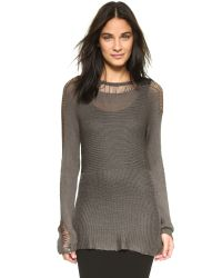 BB Dakota | Gray Berta Drop Needle Sweater - Oatmeal | Lyst